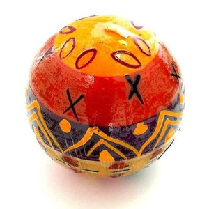 Hand-Painted Ball Candle - Indaeuko Design Handmade and Fair Trade
