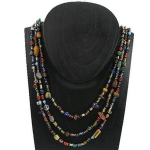 Multicolor 'Success' Triple Strand Beaded Necklace Handmade and Fair Trade