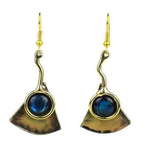 Paua Ocean Earrings Handmade and Fair Trade