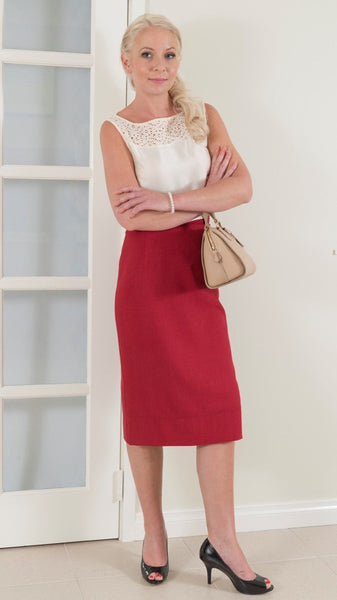Business skirt perfect to wear to work.
