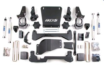 "BDS Lift Kit 01-10 GM HD 7"" Front - 5"" Rear"