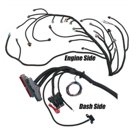 329059 2005-2014 Gen IV 24x LS2/LS3 (Converts to Drive By Cable) Complete Engine Harness For T56 and Non-Electric A/T