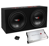 "Cerwin Vega XED Loaded Enclosure + Amp BKX7212S (Dual 12"" - 3000W Max - Sealed)"