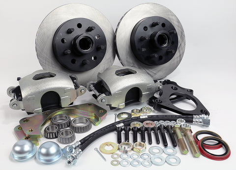 57-69 Full Size Ford & Full Size Mercury MP Brakes DB1512B - Legend Series V2.0 Front Disc Brake Conversion Kit (Front Wheels Only)