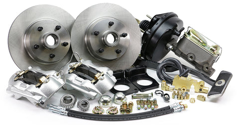67-69 Ford Mustang & Mercury Cougar MP Brakes DB15216PA - Legend Series Front Disc Brake Conversion Kit with Power Option (Automatic Transmission)