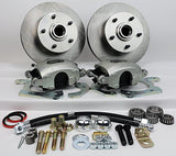 55-58 Chevrolet Full Size MP Brakes DB1711B - Legend Series Front Disc Brake Conversion Kit (Front Wheels Only)