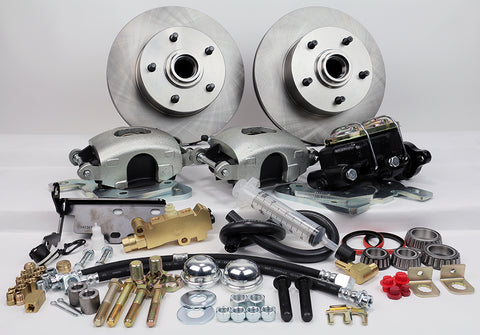 55-58 Chevrolet Full Size MP Brakes DB1711M - Legend Series Front Disc Brake Conversion Kit with Manual Option