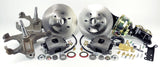 63-70 Chevrolet & GMC 1/2 Ton P/U - 6 Lug 2WD MP Brakes DB1755PD6 - Legend Series Front Disc Brake Conversion Kit with Power Option, Dropped Spindles and 6-Lug Rotors