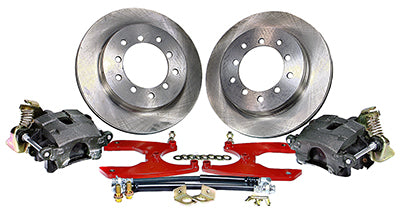 60-72 Chevrolet & GMC 1/2 Ton P/U - 6 Lug 2WD MP Brakes DB1794BR - Legend Series Rear Disc Brake Conversion Kit - 6 Lug Option