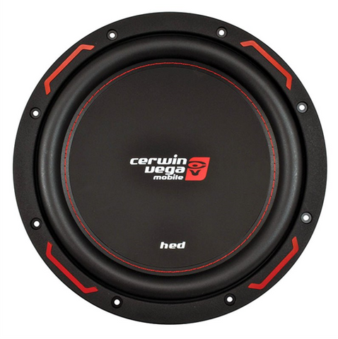 "Cerwin Vega HED7 Subwoofer (10"" - 1200W Max - Dual 4 Ohm) H7104D"