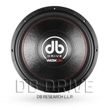 "DB Drive WDX15 3K 15"" Competition Subwoofer / 3K Watts / Dual 4 Ohm Voice Coil"