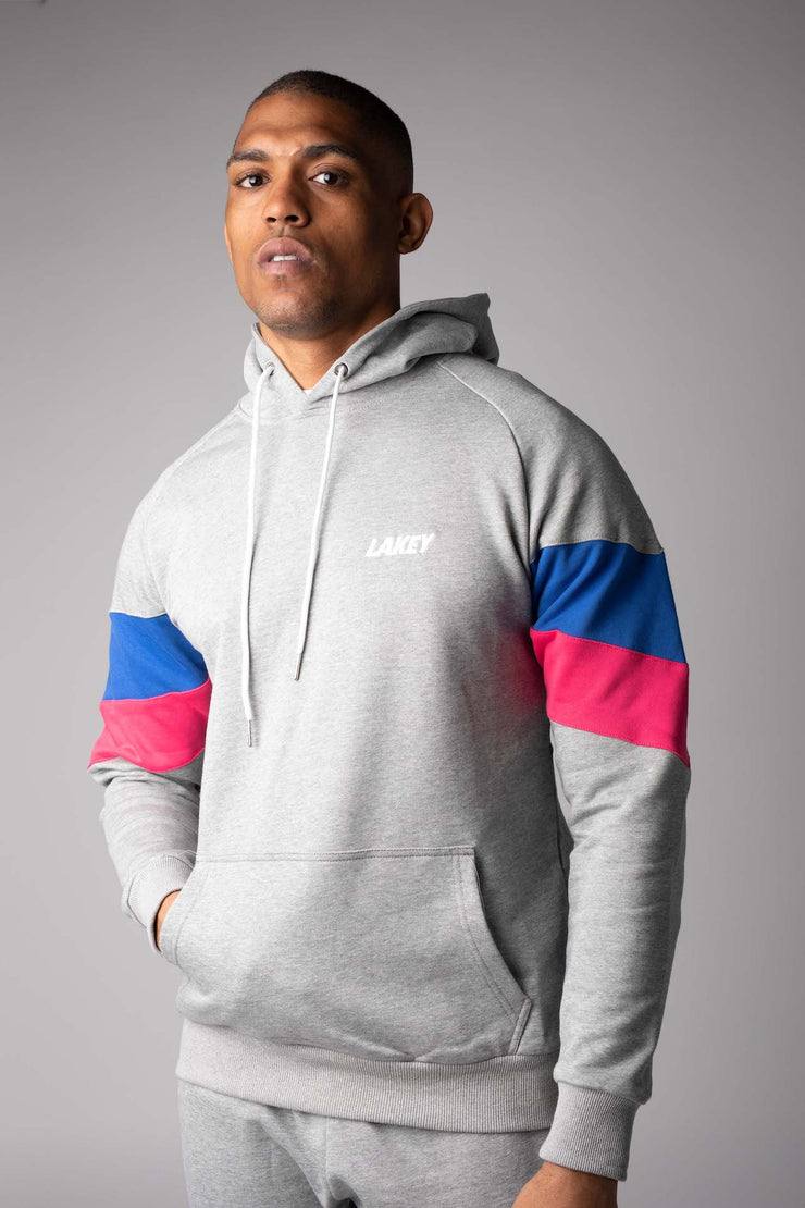 OG CHEVRON FLEECE HOOD - GREY