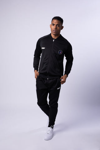 PREMIER POLY TRACK TOP - BLACK - Lakey