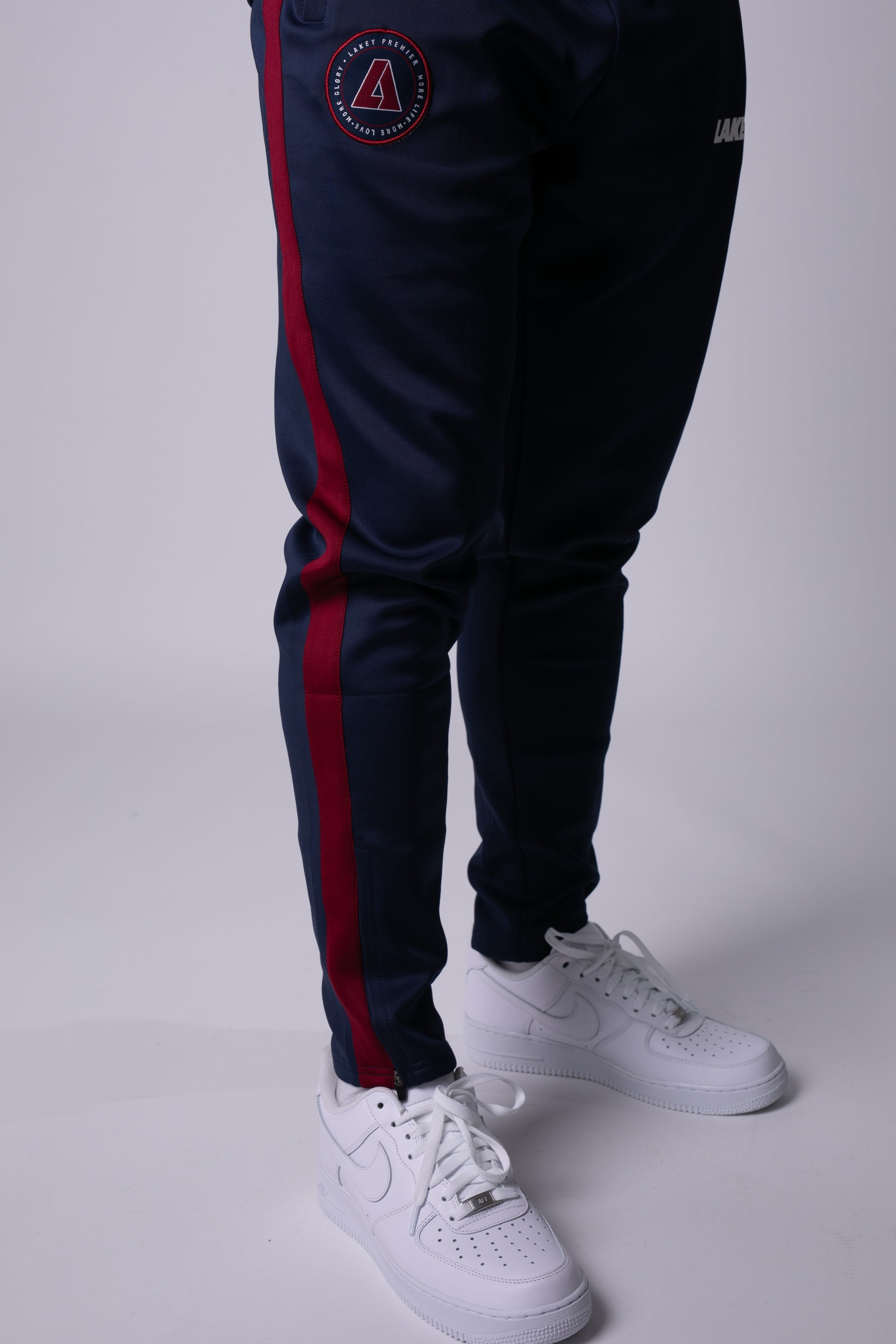 PREMIER POLY TRACKPANTS - NAVY/MAROON - Lakey
