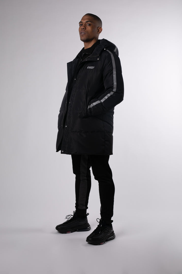 DOWN BLACK STEEL 3M STRIPE COAT