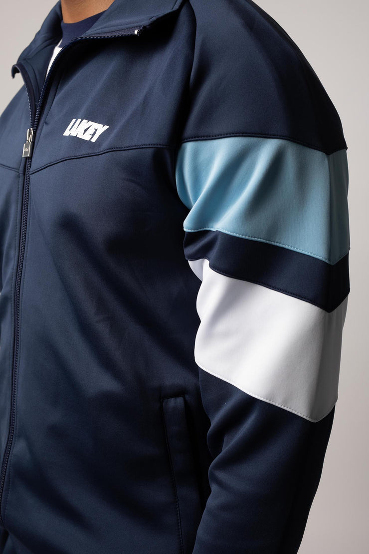 CHEVRON II TRACKTOP - POWDER BLUE