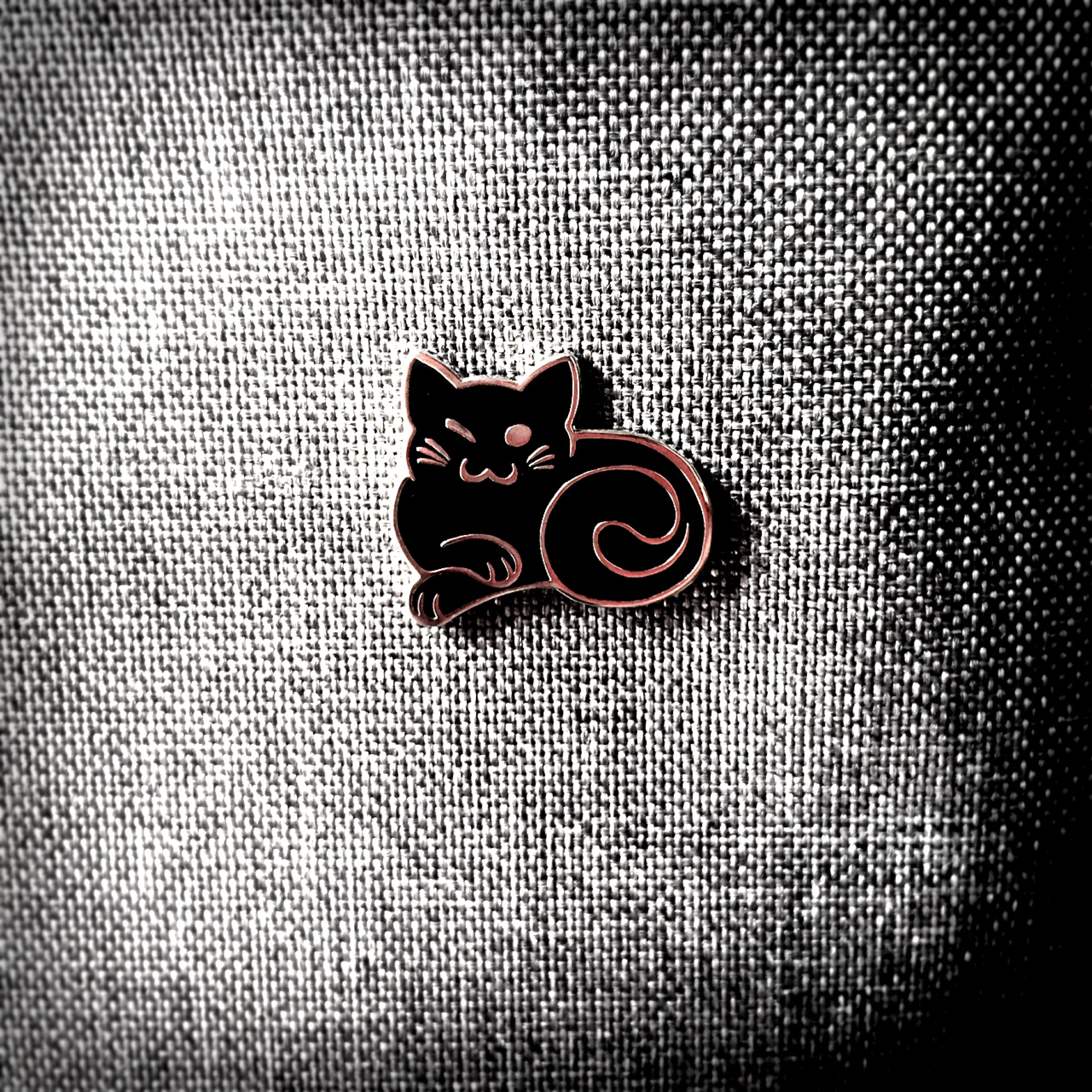 Winky Cat Pin