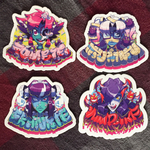 monster girl sticker set
