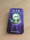 Good Boy UFD (Unidentified Flying Dog) Pin - Limited Edition Glow In The Dark