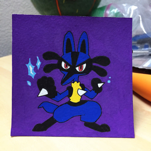 Mini Painting: Blue Dog