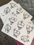 peapod bunny sticker sheet