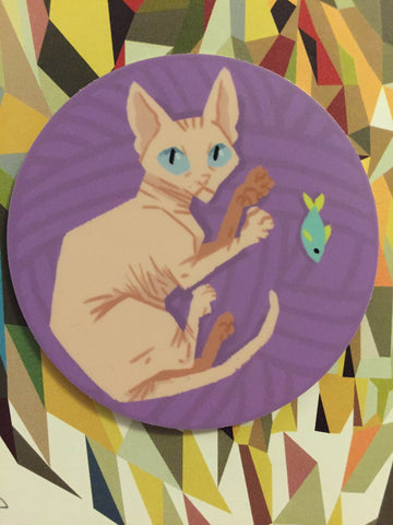 sphynx kitty sticker
