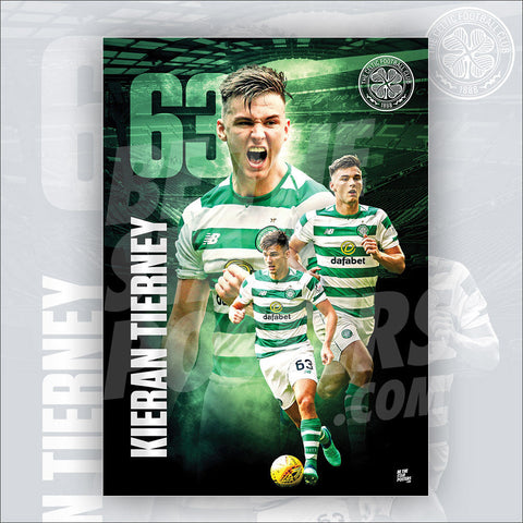 Celtic FC Kieran Tierney Poster - Official Licensed A3 Poster