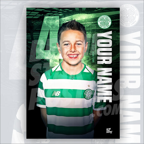 Celtic FC Home Star Player Poster