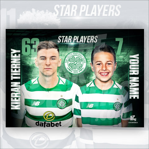 Celtic FC Keiran Tierney Star Player Poster