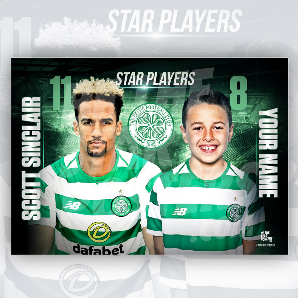 Celtic FC Scott Sinclair Star Player Poster