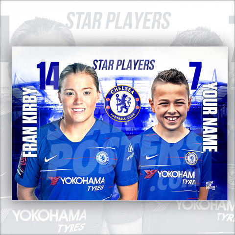 Chelsea FC Fran Kirby Star Player Poster