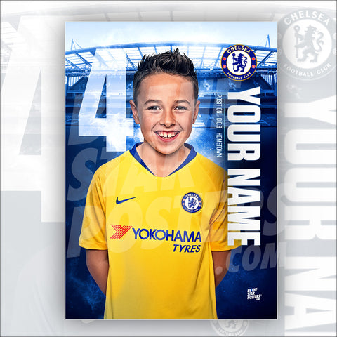 Chelsea FC Away Star Player Poster