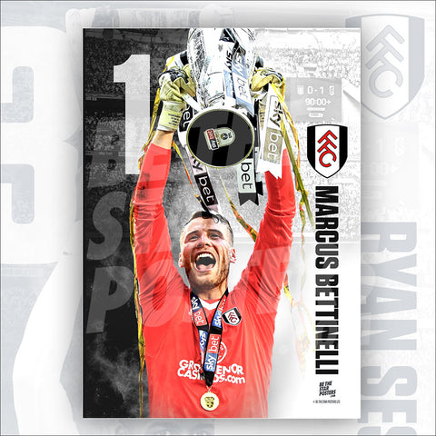 Fulham FC Marcus Bettinelli Poster - Official Licensed A3 Poster