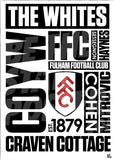 Fulham FC Word Poster - Official Licensed A3 Poster