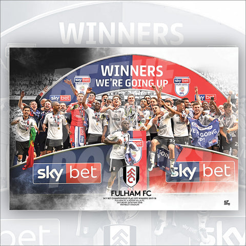 Fulham FC Promoted Poster - Official Licensed A3 Poster