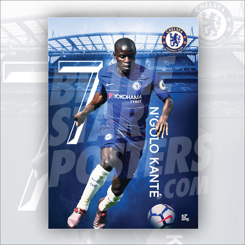 N'Golo Kante Poster Chelsea FC - Official Licensed A3 Poster