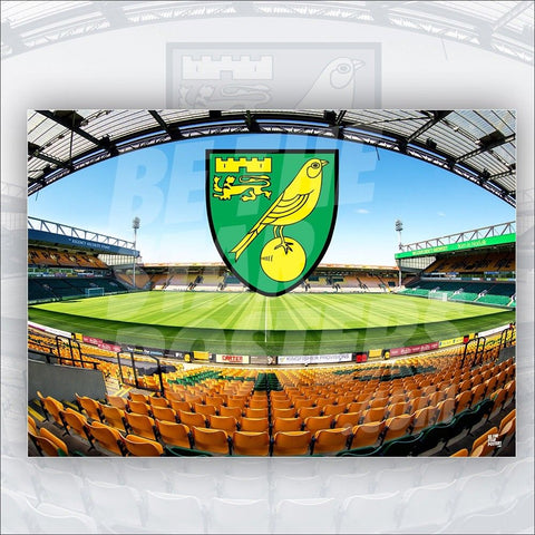 Norwich City FC 2018/2019 Carrow Road Poster - Official Licensed A3 Poster