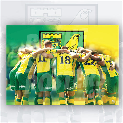 Norwich City FC 2018/2019 Team Huddle Poster - Official Licensed A3 Poster