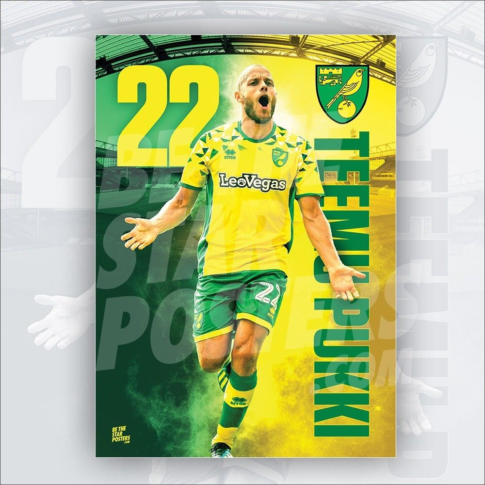 Norwich City FC 2018/2019 Teemu Pukki Poster - Official Licensed A3 Poster