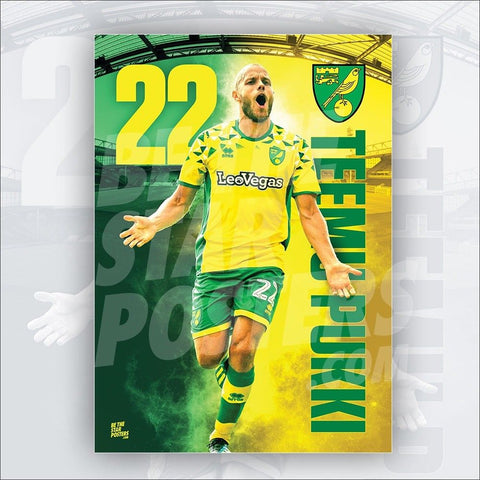 Norwich City FC 2018/2019 Teemu Pukki Poster - Official Licensed A2 Poster