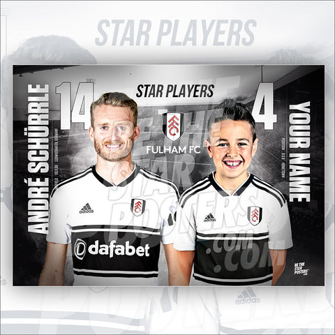 Fulham FC Andre Schurrle Star Player Poster