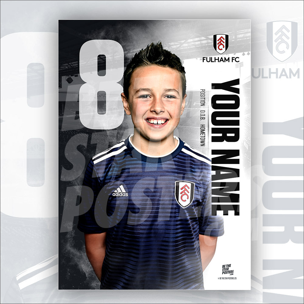 Fulham FC Away Star Player Poster