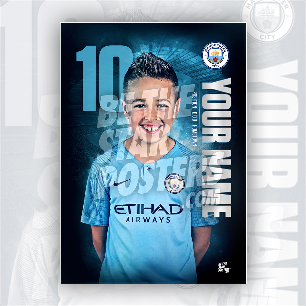 Manchester City Home Star Player Poster