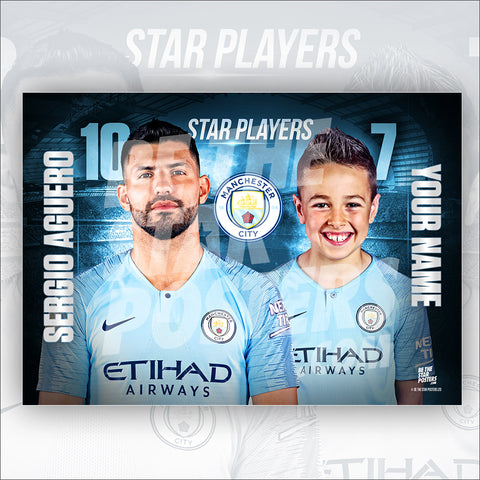 Manchester City Aguero Star Player Poster