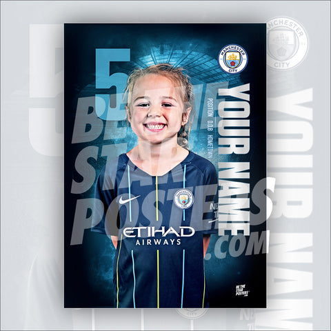 Manchester City Away Star Player Poster