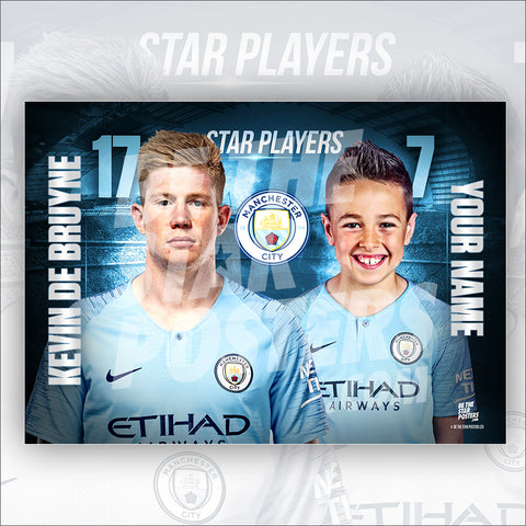 Manchester City De Bruyne Star Player Poster
