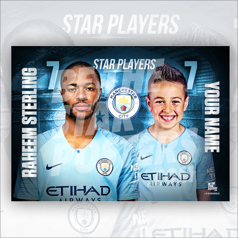 Manchester City Sterling Star Player Poster