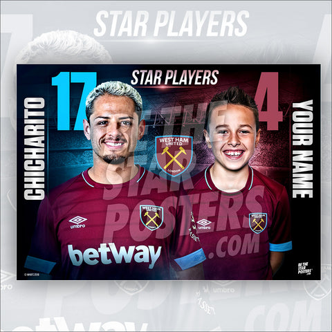 West Ham FC Chicharito Star Player Poster