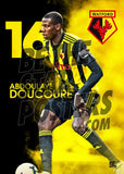 Watford FC 2018/2019 Abdoulaye Doucoure Poster - Official Licensed A2 Poster