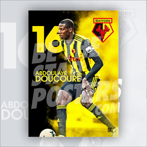 Watford FC 2018/2019 Abdoulaye Doucoure Poster - Official Licensed A3 Poster